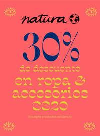 30% en ropa y accesorios SS20