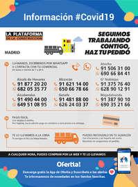 Información La Plataforma de la Construcción-Madrid #Covid19