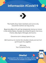 Información Converse #Covid19