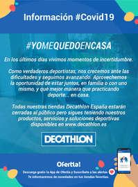 Información Decathlon #covid19 #yomequedoencasa