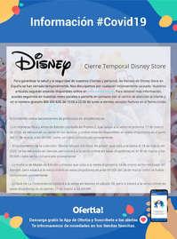 Información Disney Store #Covid19
