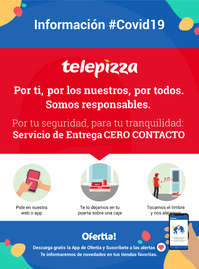 Información Telepizza #covid19 Servicio de entrega cero contacto