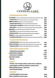 Central Café - carta