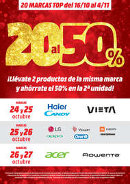 20 marcas al 50%