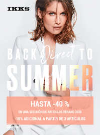 Back direct to Summer. Hasta -40%