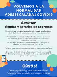 Tiendas y horarios de aperturas #Desescalada