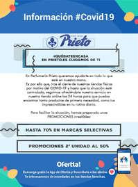 Información Perfumería Prieto #Covid19
