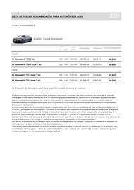 Lista Precios Audi A5 Coupé Advanced