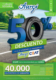 50% de descuento en la 2ª unidad de neumáticos* Aurgi Ceat
