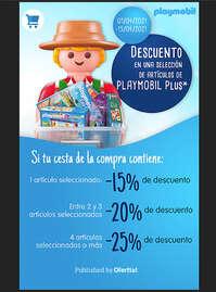 Descuento en artículos Playmobil Plus