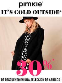 It's cold outside. 30% en una selección de abrigos
