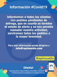 Información Rapimueble #Covid19