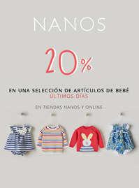 20% en una selección de artículos de bebé