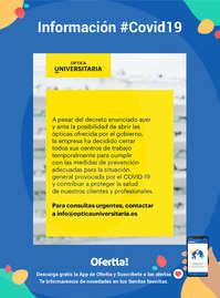 Información Òptica Universitària #Covid19