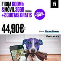 Ahora junto con Finetwork tienes fibra y móvil