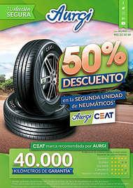 50% en la segunda unidad de neumáticos