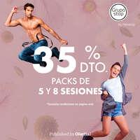 35% en packs 5 y 8 sesiones