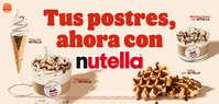 🍦Tus postres, ahora con nutella 🍫