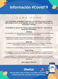 Información Zara Home #Covid19