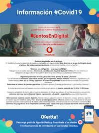 #juntosendigital Información Vodafone #Covid19