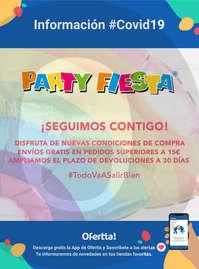 Información Party Fiesta-Envíos gratis en pedidos superiores a 15€ #Covid19