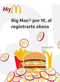 Big Mac por 1€, al registrarte ahora 🏃🏻💨