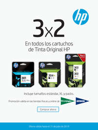 3x2 En cartuchos originales HP