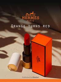 Orange turns red
