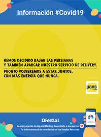 Información Pans & Company #Covid19