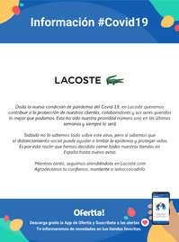 Información Lacoste #Covid19