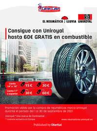 Consigue con Uniroyal hasta 60€ gratis en combustible