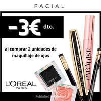 -3€ de descuento al comprar 2 uds de maquillaje de ojos*