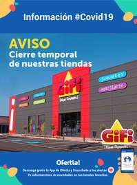 Cierre temporal de nuestras tiendas GiFi #Covid19