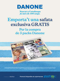 Emporta't una safata exclusiva GRATIS per la compra de 3 packs Danone