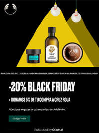 En tu compra Black Friday donamos 5% a la Cruz Roja