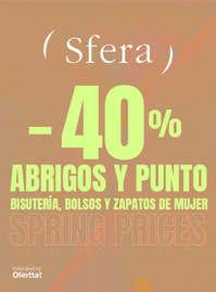 -40% en abrigos, punto, bisutería, bolsos y zapatos de mujer