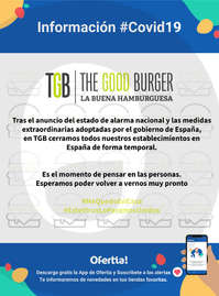 Información The Good Burguer #Covid19
