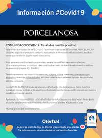 Información Porcelanosa #Covid19