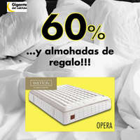 60% de descuento + almohadas de regalo
