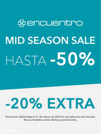 Mid Season Sale. Hasta -50% y -20% extra