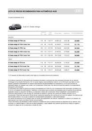 Lista de precios Audi A3 Sedan design