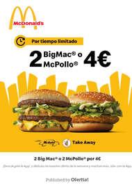 2 BigMac o 2 McPollo por 4€