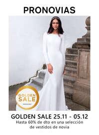 Golden Sale. Hasta 60% en una selección de vestidos de novia