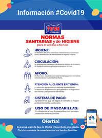 Información #Covid19 - Normas sanitarias y de higiene para el acceso a tienda