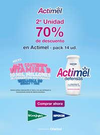 2ª unidad 70% de descuento en Actimel