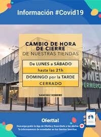 Información Supermercados Sánchez Romero #Covid19
