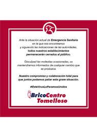 Bricocentro Informa - Tomelloso #EsteVirusLoParamosUnidos