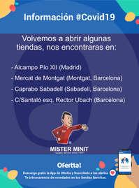 Información Mister Minit-Reabrimos tiendas #Covid19