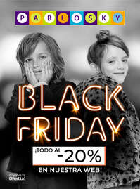 Black Friday. Todo al -20%