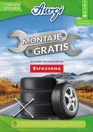 Montaje gratis en todos los neumáticos Firestone